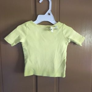 Baby Girl Yellow Top with bow.  No flaws